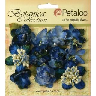 "Botanica Sugared Mini Blooms 1.25"" 11/Pkg-Royal Blue"