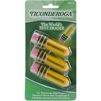 Ticonderoga Pencil Shaped Erasers 3/Pkg