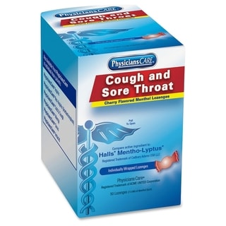 PhysiciansCare Cough and Sore Throat Cherry Menthol Lozenges (Pack of 50)