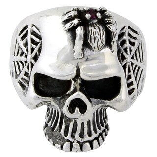 Sterling Silver Wandering Spider Skull Ring