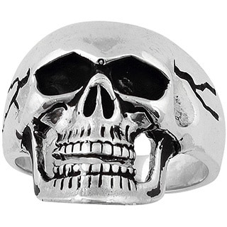 Sterling Silver Electromagnetic Skull Ring