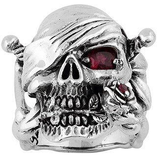 Sterling Silver Decaying Joy Skull Ring