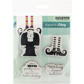 """Penny Black Cling Rubber Stamp 3.75""""X4"""" Sheet-Spooky Wishes"""