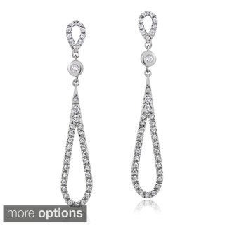 ICZ Stonez Silver Cubic Zirconia Teardrop Dangle Earrings