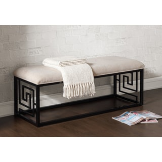Greek Key Black Bench