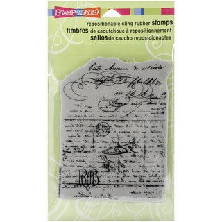 "Stampendous Cling Rubber Stamp 4""X6"" Sheet-Vintage Letter"
