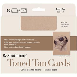 Strathmore Cards & Envelopes 5X6.875 10/Pkg-Toned Tan https://ak1.ostkcdn.com/images/products/9657253/P16839517.jpg?impolicy=medium