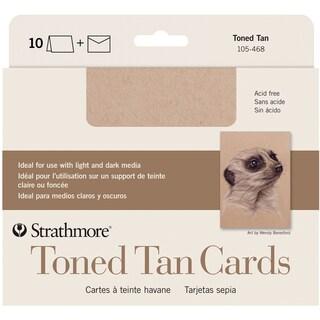 Strathmore Cards & Envelopes 5X6.875 10/Pkg-Toned Tan