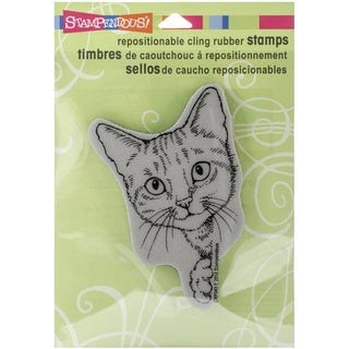 "Stampendous Cling Rubber Stamp 4.5""x5.5"" Sheet -Feline Curious"