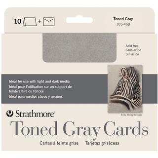 Strathmore Cards & Envelopes 5X6.875 10/Pkg-Toned Gray