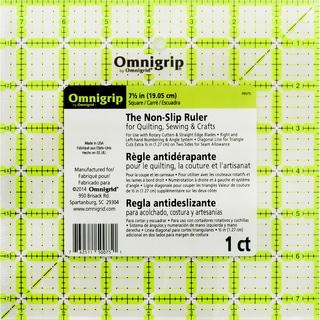 """Omnigrip Non-Slip Quilter's Ruler-7.5""""X7.5"""""""
