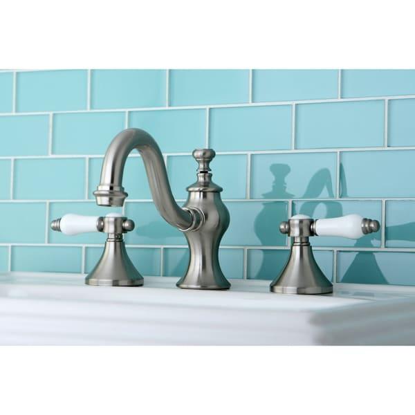 Victorian Widespread Bathroom Faucet: Shop Victorian Satin Nickel Widespread Bathroom Faucet