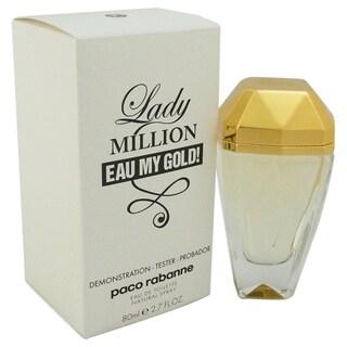 Paco Rabanne Lady Million Eau My Gold! Women's 2.7-ounce Eau de Toilette Spray (Tester)
