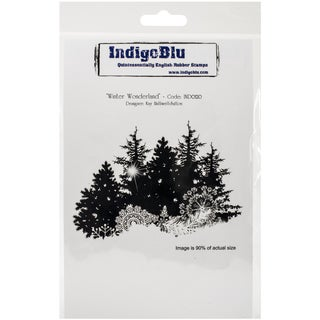 "IndigoBlu Cling Mounted Stamp 5""x8""-Winter Wonderland"