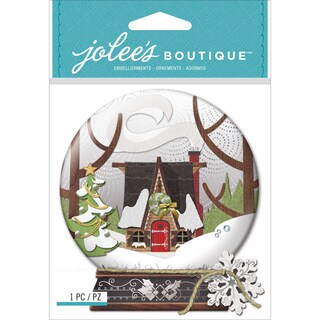 Jolee's Boutique Dimensional Stickers-Snow Globe Scene