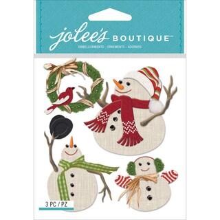 Jolee's Boutique Dimensional Stickers-Snowmen