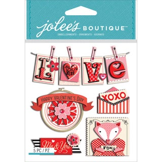 Jolee's Boutique Dimensional Stickers-Valentine Words