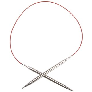 "Red Lace Stainless Steel Circular Knitting Needles 24""-Size 2.5/3mm"