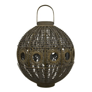 20-inch Multi-Brown Bamboo Lantern