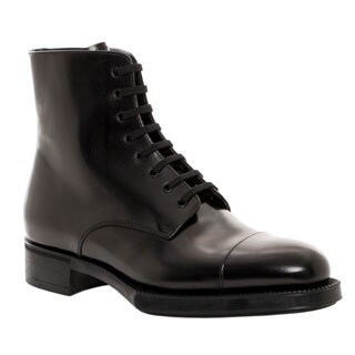 Prada Women's Lace-up Ankle Combat Boots