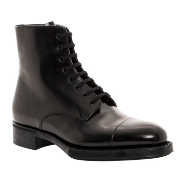 Prada Women's Lace-up Ankle Combat Boots - Free Shipping Today ...