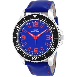 Seapro Men's SP5313 Tideway Round Blue Strap Watch