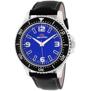 Seapro Men's SP5312 Tideway Round Black Strap Watch