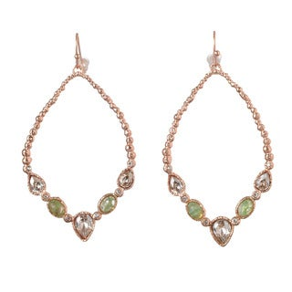 De Buman 18k Rose Gold Plated Crystal Earrings