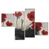 Ready2HangArt 'Painted Petals II' 4-piece Canvas Wall Art