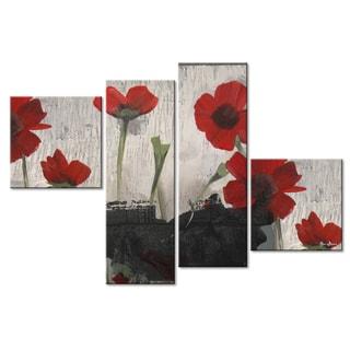 Ready2HangArt 'Painted Petals II' 4-piece Canvas Wall Art Set