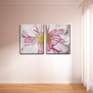 Ready2HangArt 'Painted Petals IV-B' 2-panel Canvas Wall Art