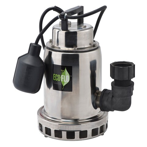 Eco-Flo SEP75W 3/4 HP Stainless Steel Waterfall Fountain Pump