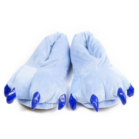 Leisureland Blue Animal Bear Paw Slippers
