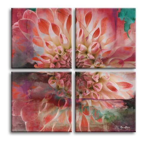 Ready2HangArt 'Painted Petals XXIX' 4-piece Canvas Wall Art