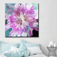 Ready2HangArt 'Painted Petals Blossom' Canvas Wall Art - Purple