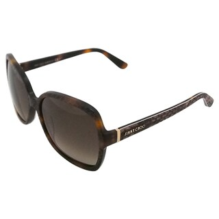 Jimmy Choo LORI/S 6UKJ6 Women's Havana Sunglasses