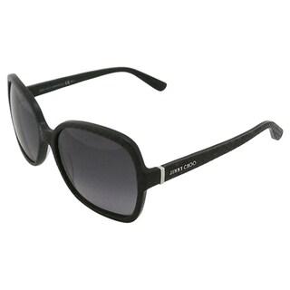 Jimmy Choo LORI/S 6UIHD Women's Black Sunglasses