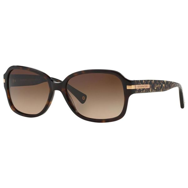 Coach Women S Sunglasses  coach women s amber hc8105 522713 ocelot sunglasses free