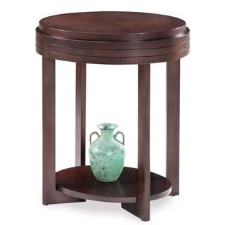 Favorite Finds Chocolate Cherry Oval End Table
