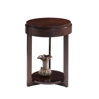 Favorite Finds Chocolate Cherry Round End Table