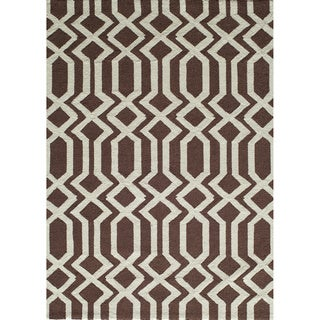 Springfield Brown Hand-hooked Rug (2' x 3')