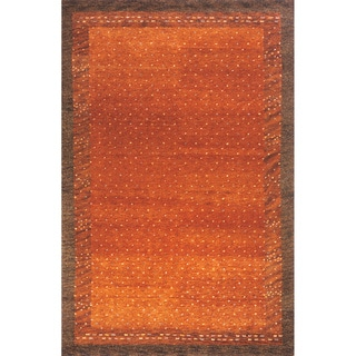 """Sierra Paprika Hand-knotted Indian Wool Rug (9'6"""" x 13'6"""")"""