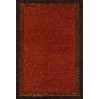 Sierra Paprika Hand-knottedIndian wool Rug (8' x 11')