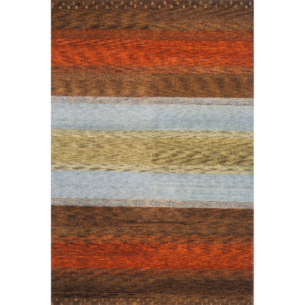 Momeni Desert Gabbeh Hand-Knotted Wool Rug - 8' X 11'