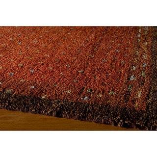 "Sierra Paprika Hand-knotted Indian Wool Rug (7'6"" x 9'6"")"