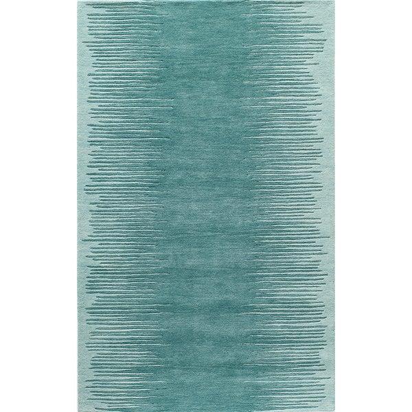 Cosmopolitan Vibe Aqua Hand-tufted Wool Rug (8' X 10