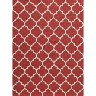 "Casablanca Red Hand-hooked Rug (7'6"" x 9'6"")"