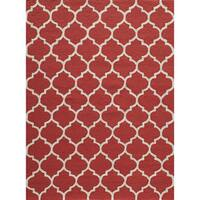 """Casablanca Red Hand-hooked Rug (7'6"""" x 9'6"""")"""