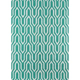 Paolo Green Hand-hooked Rug (7'6 x 9'6)