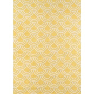 "Key West Yellow Hand-hooked Rug (7'6"" x 9'6"")"